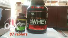 Gold standard whey & Amino 2222 protein supplements