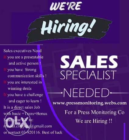 We are looking for sales consultant