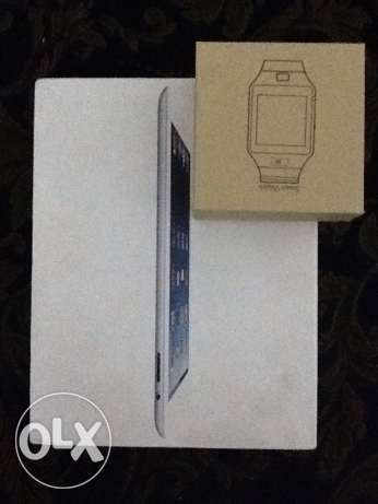 new iPad 2 16gb with new smart watch just for 250$