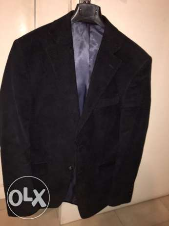 Navy Blue Blazer Men Size IT 48