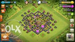 th8 clash of clans and level 7 clash royale