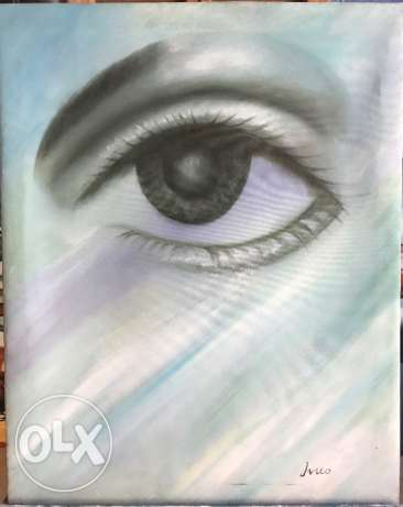 Eyes Oil Painting For Sale.
