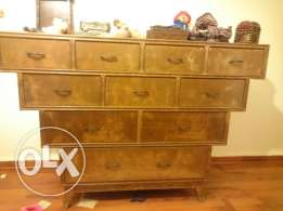 Antique drawers chest, long years old, heavy duty, best quality wood,
