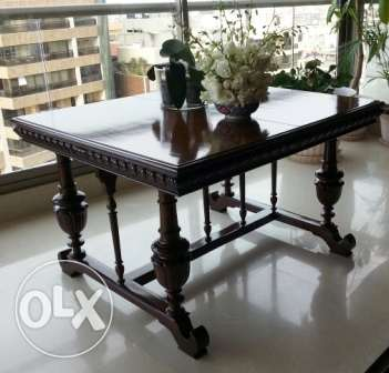 old antique dinning table