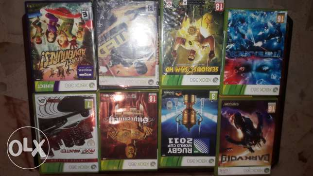 Xbox 360 original cds and kinect for sale