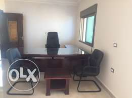 Office desk + office chair + 2 customer chairs + coffee table