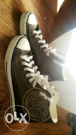 Spalding × converse Leather shoes