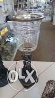 BRAND NEW!!! bronze lamp and cristal vase for sale