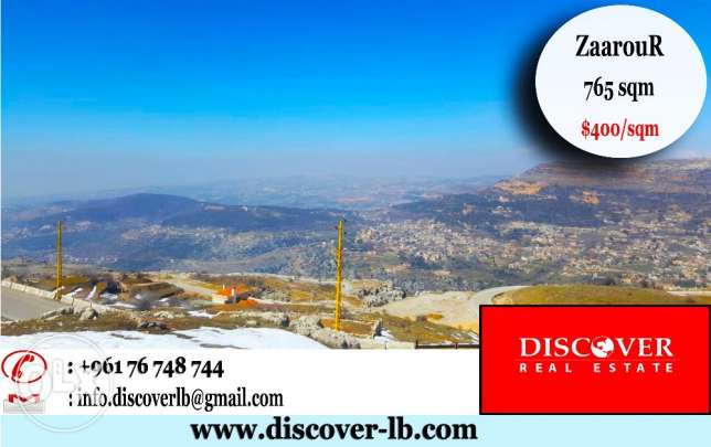 765 sqm Land for sale in Zaarour Near the Ski Resort