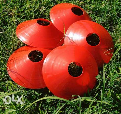 Red Discs For Football Training