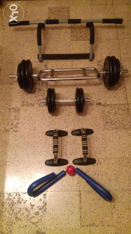 Body building equipments.