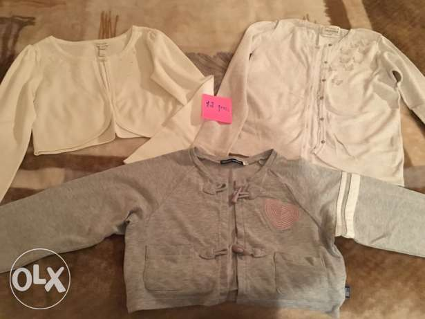 3 coton jackets size 12 for girls