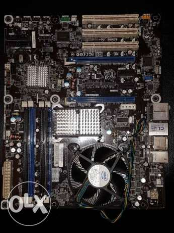 Core2quad q9550 and intel extreme motherboard and 2gb ddr3. Tripoli
