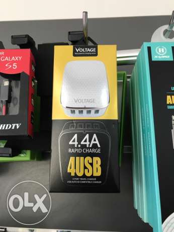 power charger for fast charging 4 USB output 4.4 amp