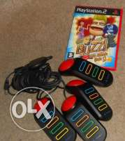 ps2 buzz game + buzz controlers can be sold seperately