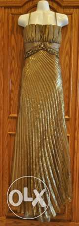 Gold Metallic Evening Gown - Sample Sale