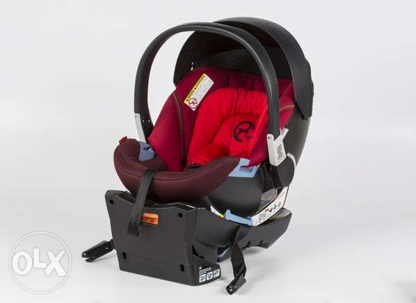 Cybex Aton 3 (Red) - Cars eat + ISOfix Base