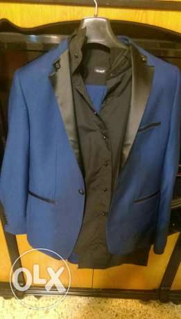 Complete Suit With Black Shirt + free Tie