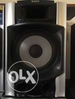 sony sound broad system + subwoofer + 2 extrauded bass duct