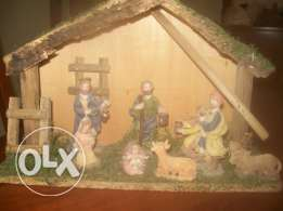 christmas decoration, grotto and characters
