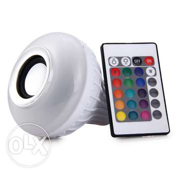 LED colorful remote-controlled bulb + bluetooth speaker (We deliver)