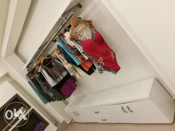 Retail closet and clothes hanger