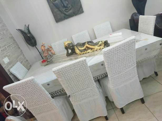 Dinner table with 8 chairs كسروان -  2