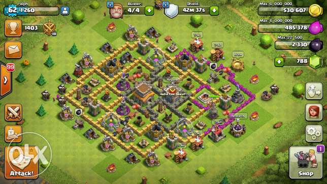 Clash of clans TH 8 بوشرية -  1