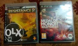 Medal of honor warfighter and resistance 2 (ps3 cd)