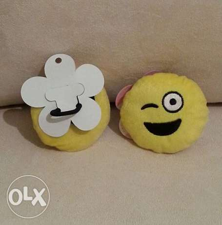 Emoji Hair Rubber Band المرفأ -  1