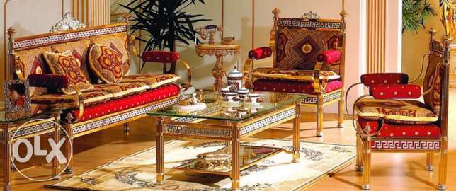 gold plated furniture