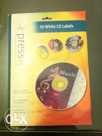 50 white CD labels