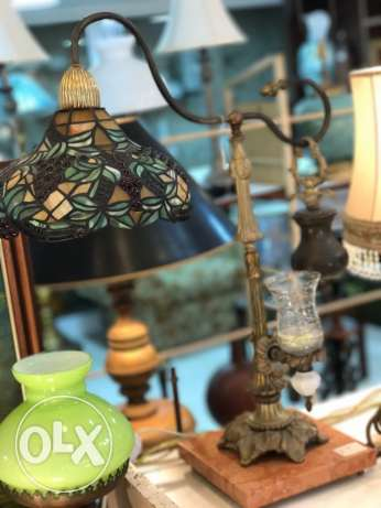 table lamp and candlestick