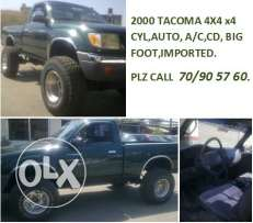 2000 toyota TACOMA BIG foot 4 cyl