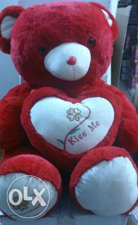 Peluche ours valentine's 80cm