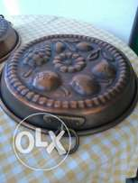German Plates for kitchen, heavy copper, hand made, 30cm, each 25$