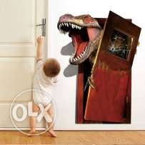 Jurassic Park Dinosaur Broken Door Wall Stickers