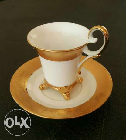 Coffee set Gold collection#24 CT Gold plated#new not used#for 120$ زلقا -  1