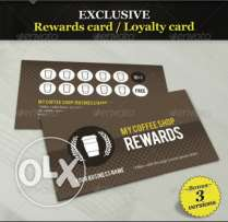 Pre-printed Loyalty Cards with Barcode personalization