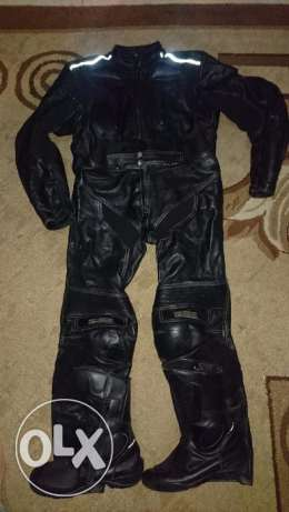 Pro biker 2 piece suit pure leather made in Germany