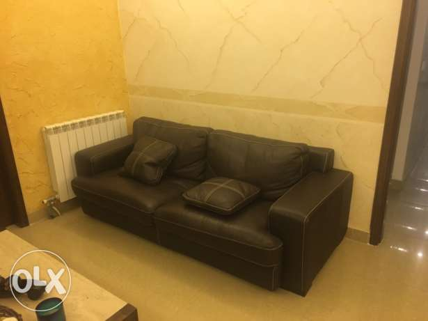 sofa real leather + coffee table