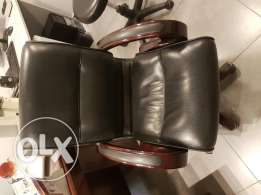 Office chairs leather with wood