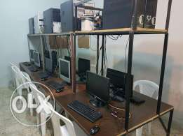10 computers + 15 chairs + 2 tables + 10 mouses + 10 keaboards