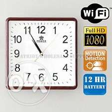 1080P Full HD Wireless Wall Clock Pinhole DVR Clock Video Recorder Hom الصالحية -  2
