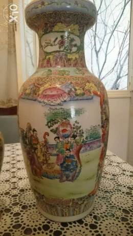 Very old over than 100 years Japanese Vase, hand-made big size. فاز فردان -  1