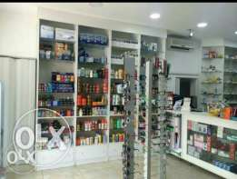 Pharmacy with full modern decoration and upper store with full papers