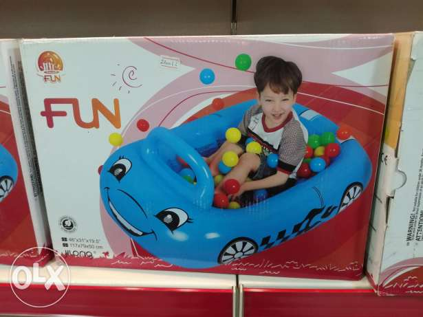 Inflatable baby car with small balls