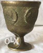 Very old cup handmade and designed from Bronze and Copper, unknown age