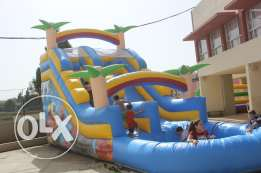 Water Slide Inflatable Gonflable Game ألعاب نفخ