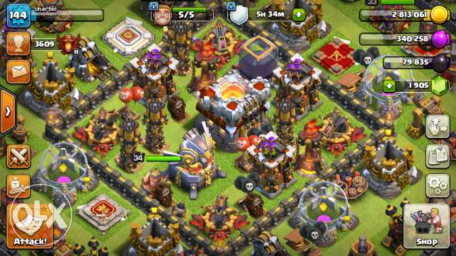 Clash of clans Town hall 11/1905 gems